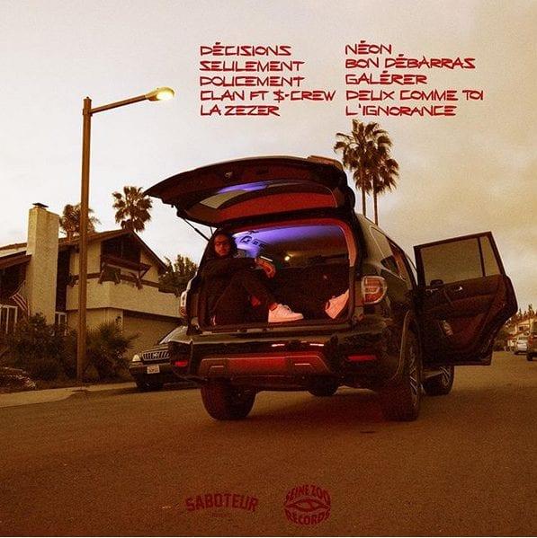 """Tracklist du premier projet solo de 2Zer, """"Décisions"""""""